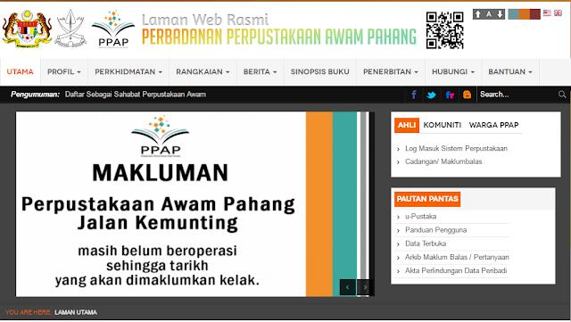 Rasmi - Jawatan Kosong di (PPAP) Perbadanan Perpustakaan Awam Pahang 2019