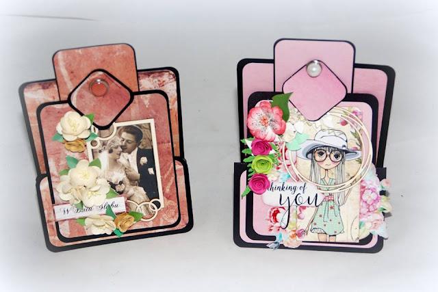 ramki tekturki z EKO-DECO na kartkach