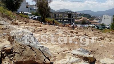 Η αρχαία πόλη αναδύεται έξω από το νέο νοσοκομείο Χαλκίδας