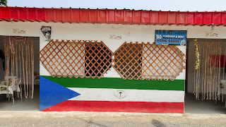 Painted in colors of Equatorial Guinea Flag