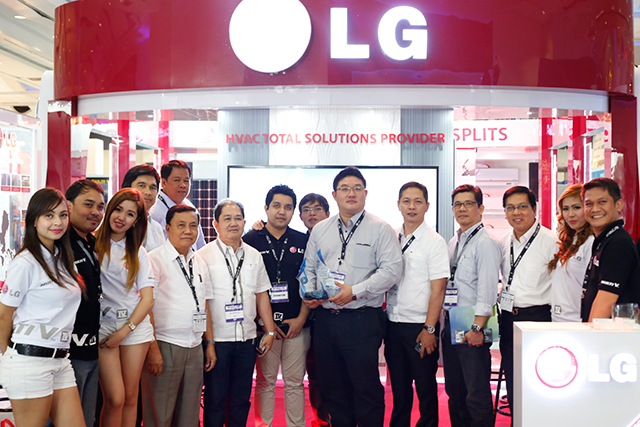 Board of Directors of the Philippine Society of Ventilating, Air-Conditioning and Refrigerating Engineers, Inc. (PSVRARE), Organizer of HVAC/R Philippines joined with the representatives from LG Electronics.
