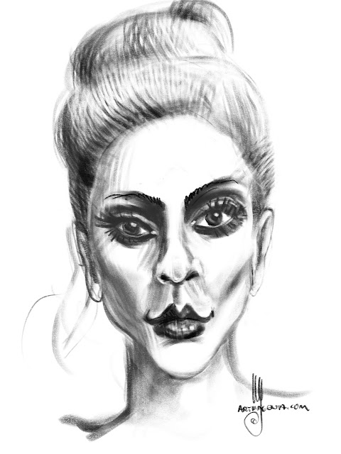 Lady Gaga caricature by Artmagenta