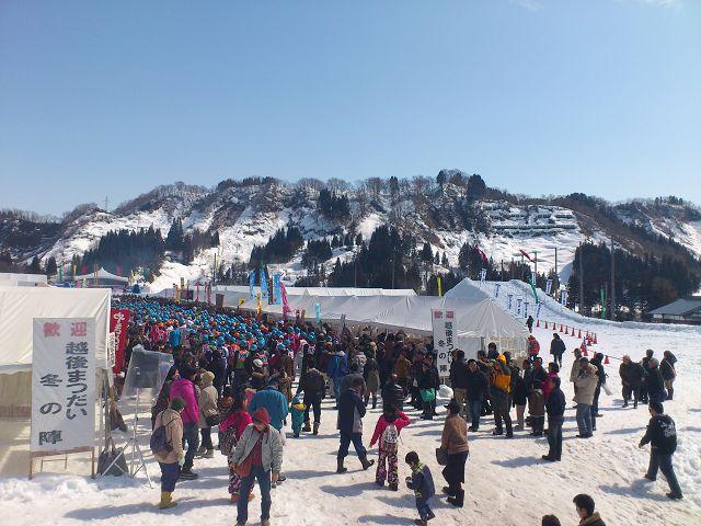 Echigo Matsudai Fuyu-no-jin (Winter Festival) at Toukamachi City, Niigata Pref.