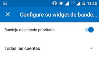 """Como Insertar un """"Widget"""" de Correo Outlook en tu movil"""