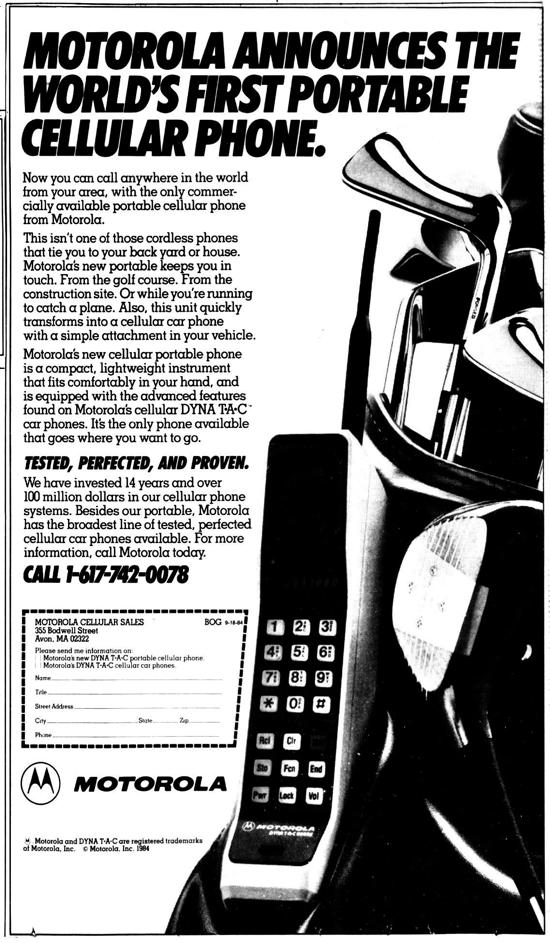 Motorola DynaTAC 8000X advertisement