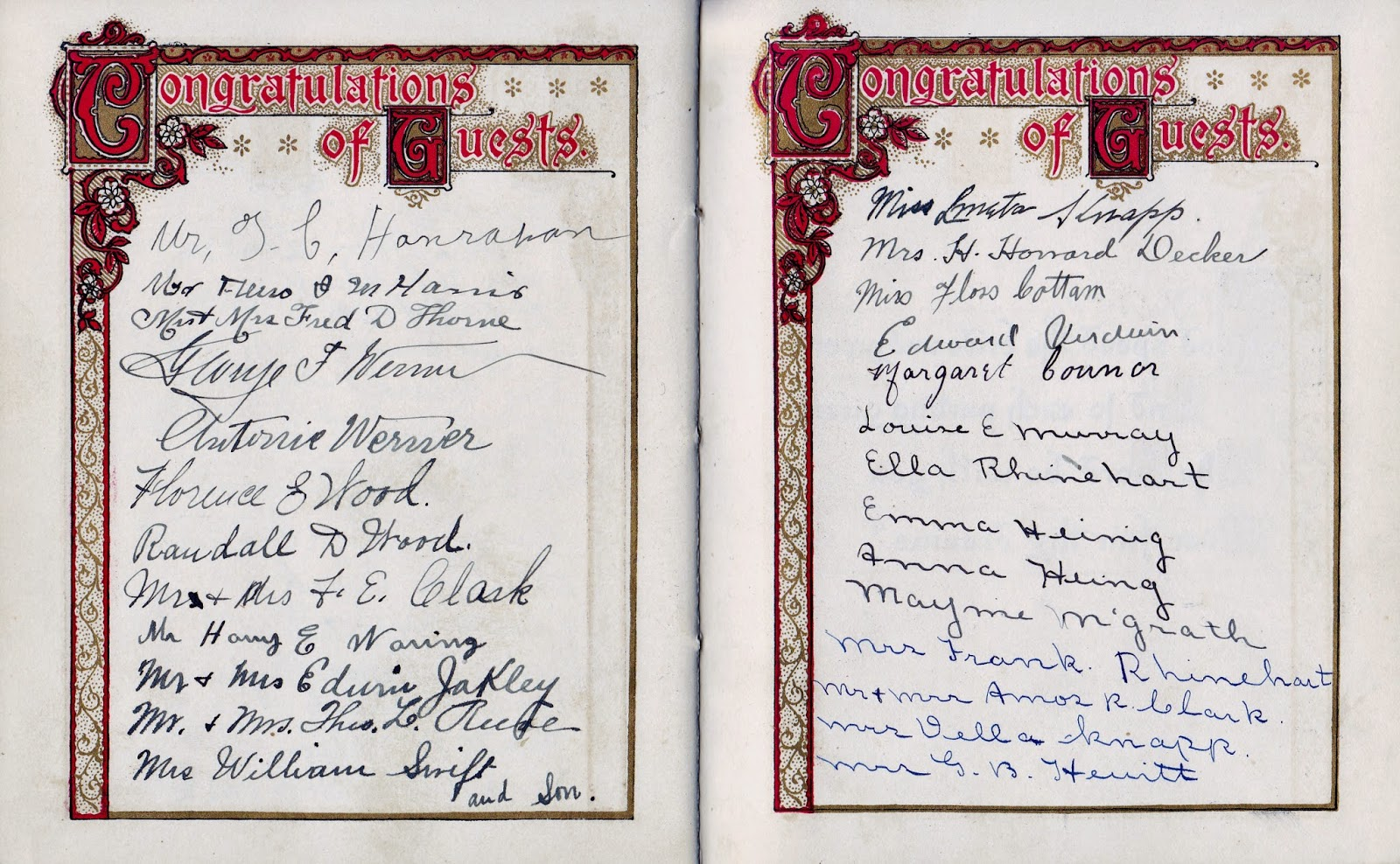 Nellie M Hewitt and Harry E Lee's Wedding Book page 5