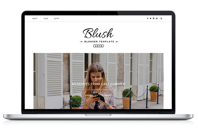 Image for Blush Responsive MultiPurpose Blogger Template