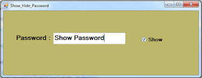 Show And Hide Password In C#