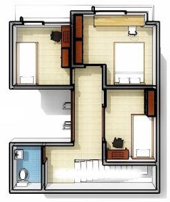 gambar denah rumah minimalis 7 12 desain lantai lahan