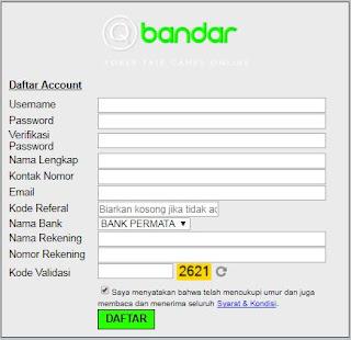 Cara Daftar Di Situs Agen Judi Bandar Poker Online QBandars.net - www.Sakong2018.com