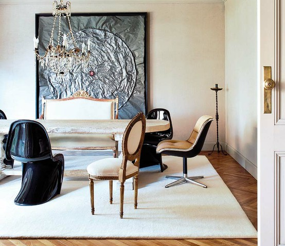 audrey abby interiors panton chairs in dining rooms. Black Bedroom Furniture Sets. Home Design Ideas