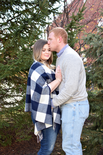christmas card photo 2016 jcrew cape scarf in navy and ivory david yurman jewelry lush tunic jcrew toothpick denim cashemere sweater ralph lauren polo button down wrangler jeans riding boots blonde ombre balayage winter holidays new years8