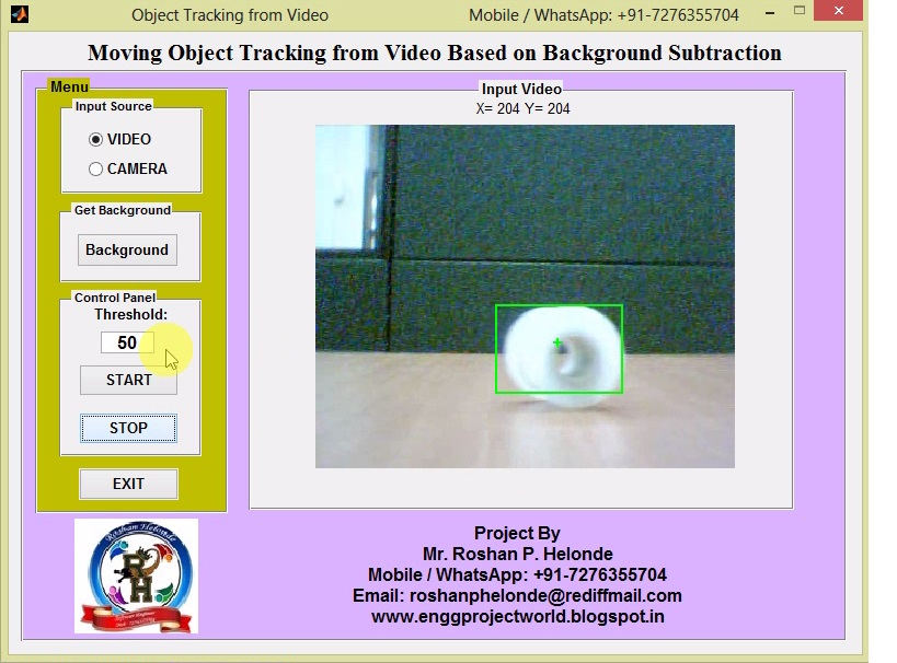 moving object detection using background subtraction algorithms Mahamuni and patil 3 proposed the moving object detection using background subtraction algorithm the the input images were pre-processed using the median filter and then they were applied to the.