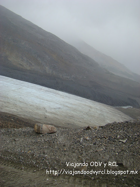 Glaciar Athabasca, Montañas rocosas Canadienses, Viajando ODV Y RCL https://viajandoodvyrcl.blogspot.mx