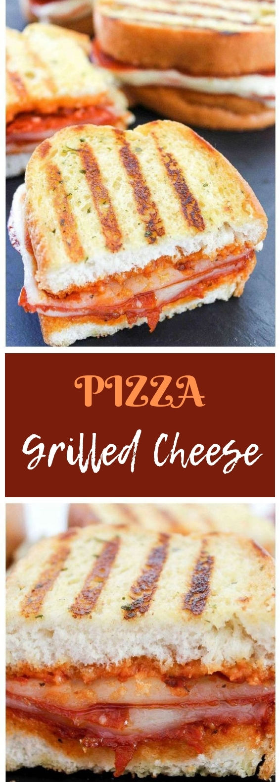 Pepperoni Pizza Grilled Cheese #sandwich #lunch