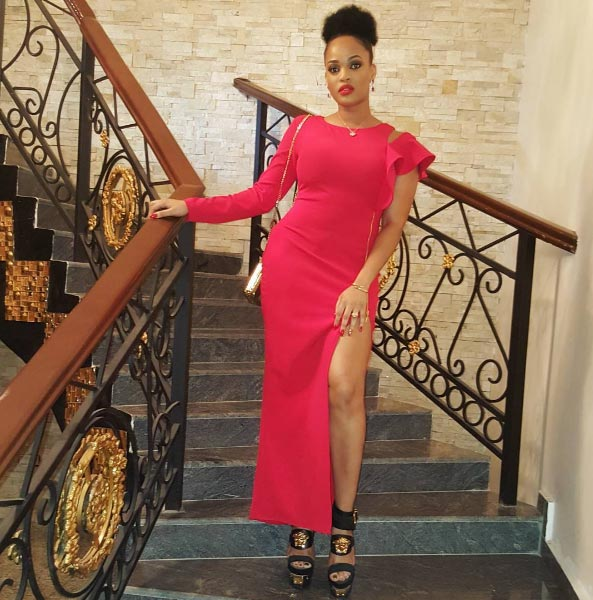 Chief Adaeze Yobo steps out in gorgeous one-hand red dress