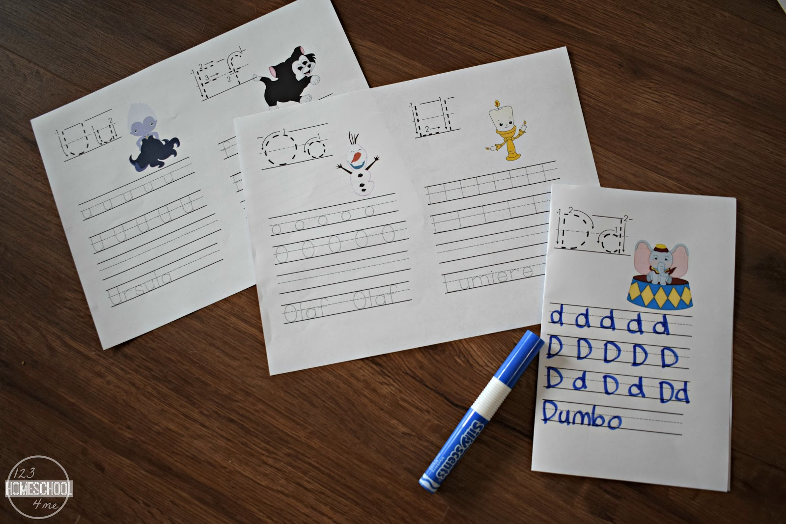 Free Disney Alphabet Worksheets