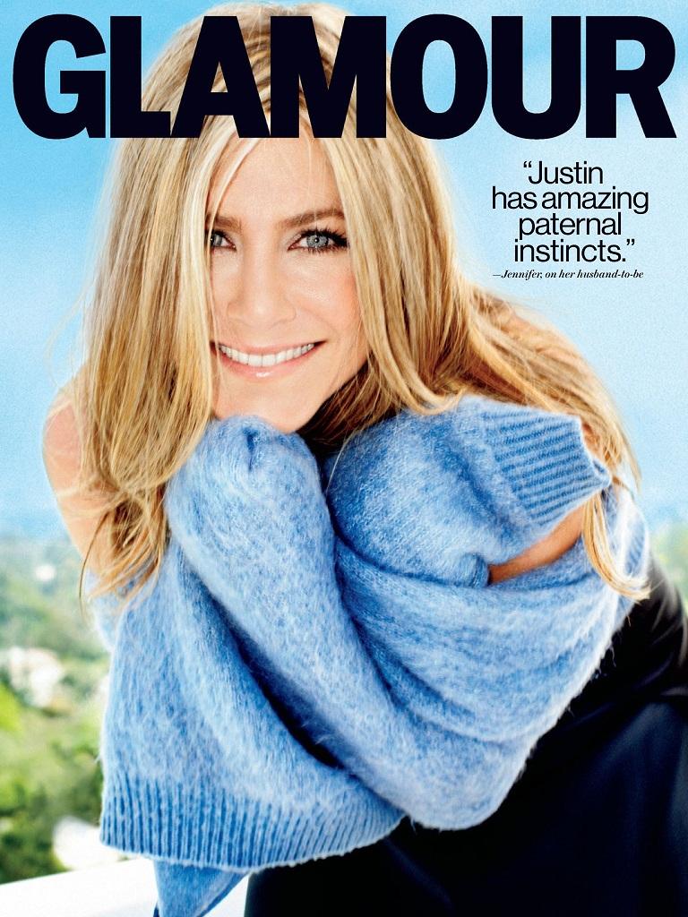 Jennifer Aniston On Cover For Glamour Us September 2013 Magspider