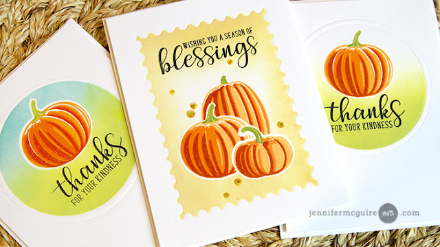 Sunny Studio Stamps: Pretty Pumpkins and Autumn Greetings Fall Cards by Jennifer McGuire