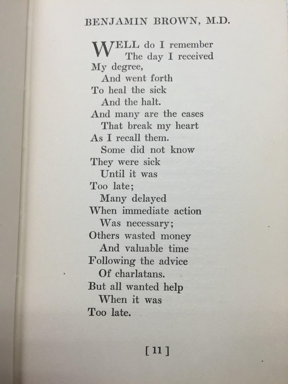 Doctoring essay poem story