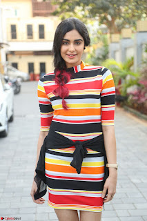 Adha Sharma in a Cute Colorful Jumpsuit Styled By Manasi Aggarwal Promoting movie Commando 2 (26).JPG