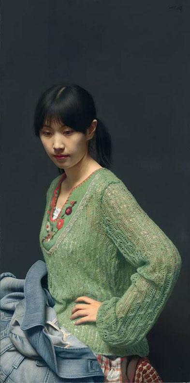 El detalle de esta pintura de Leng Jun es simplemente asombroso