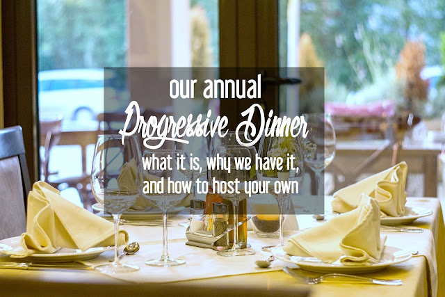 Our Annual Christmas Progressive Dinner: What it Is, Why We Have it, and How to Host Your Own | CosmosMariners.com