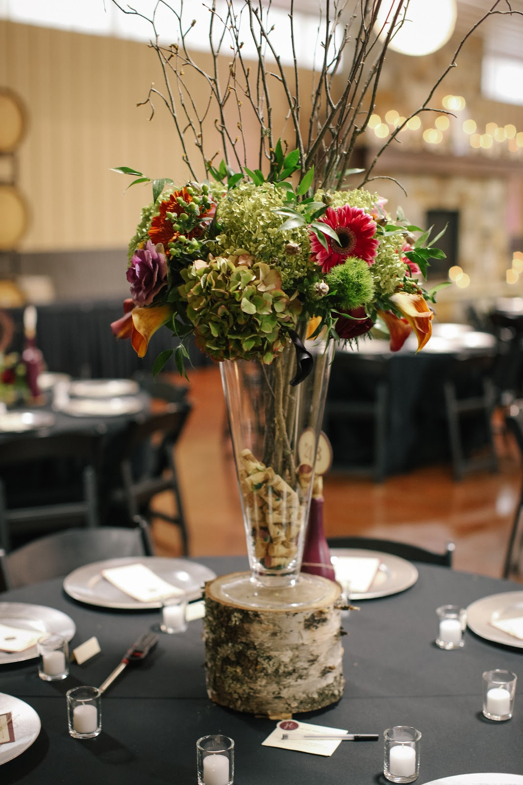 Living in His Grace Our wedding  centerpieces