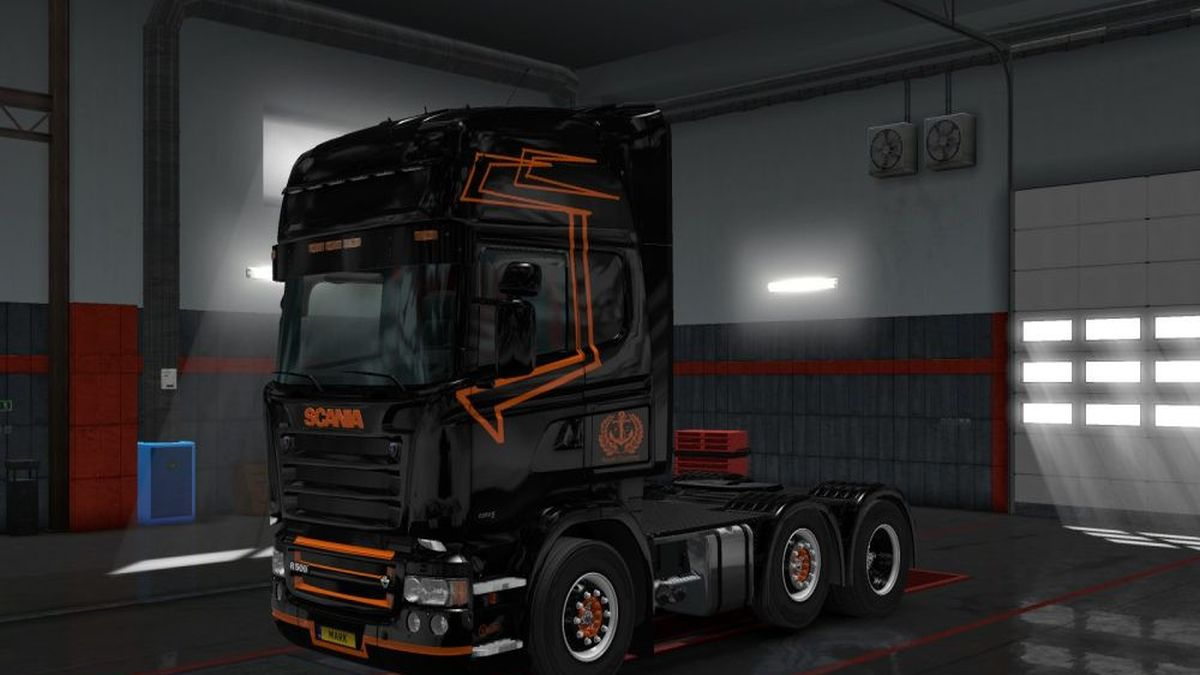 Scania RJL Black & Orange Skin