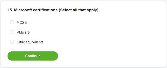 radio button application question