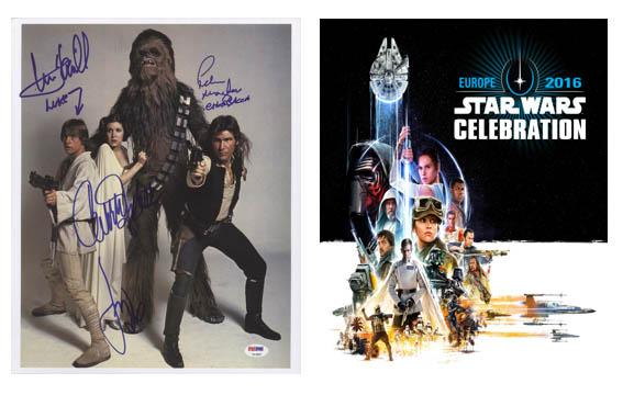 Autografos convenciones Star Wars