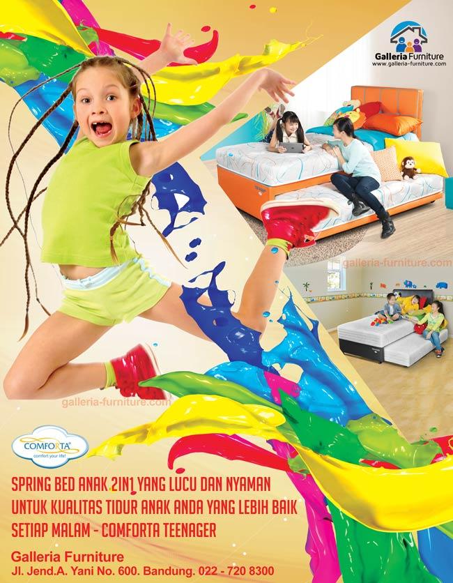 Harga Spring Bed Anak 2in1 Latex Comforta Teenager