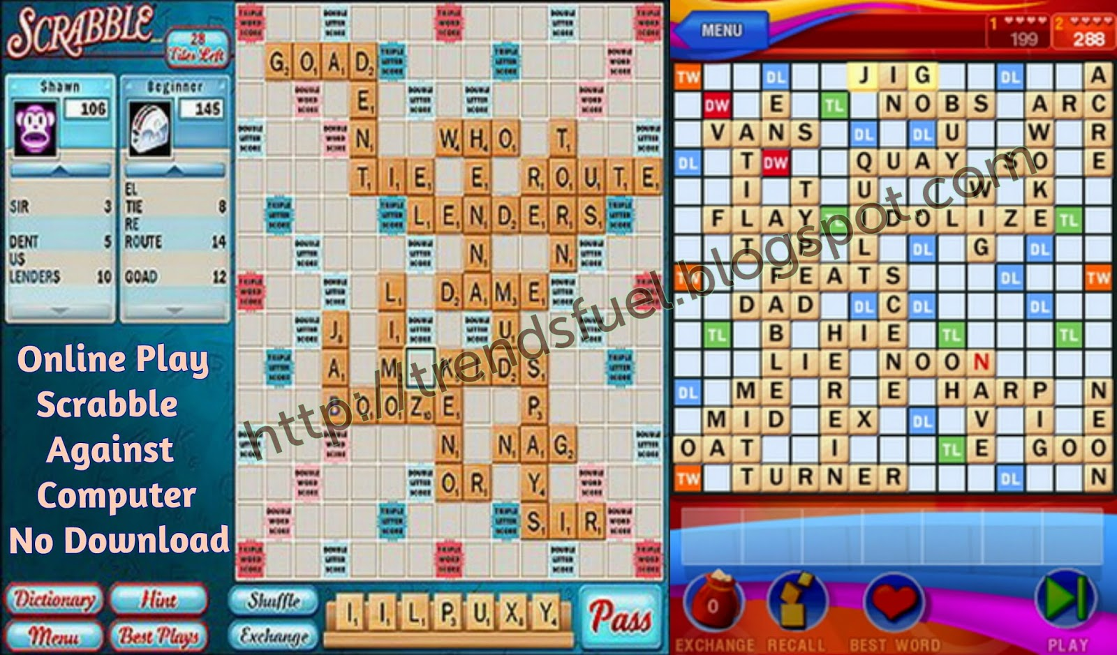Play free scrabble no register no download games online play.