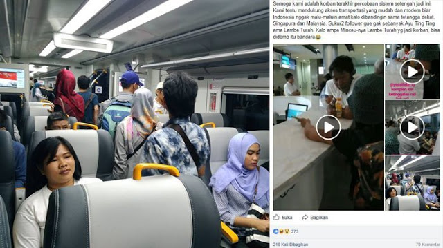 Baru Diresmikan Presiden Jokowi, Kereta Bandara Dapat Kritikan Pedas, Postingannya Viral Seperti Ini...