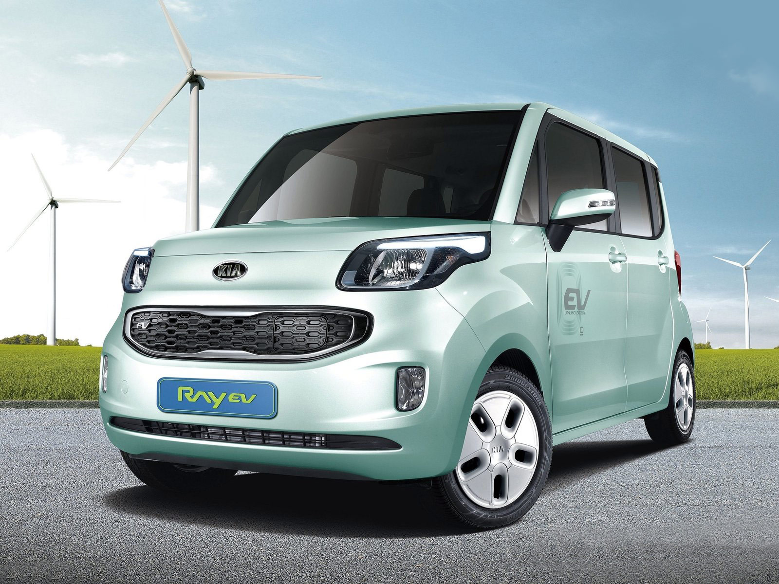 2012 Kia Ray Ev Car Desktop Wallpaper
