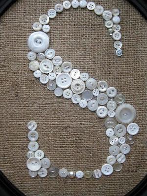 Letra S com botões