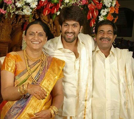 Yash with Father And Mother