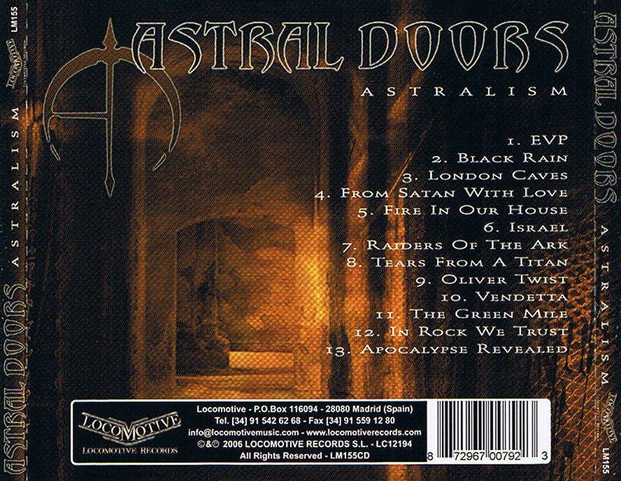 Cosa extraña en estos extraños tiempos que corren pero Astral Doors imagesCALVI5BO & WHERE METAL RULES: ASTRAL DOORS - ASTRALISM (2006) Pezcame.Com