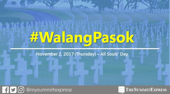 #WalangPasok: November 2, 2017 special non-working holiday in some areas