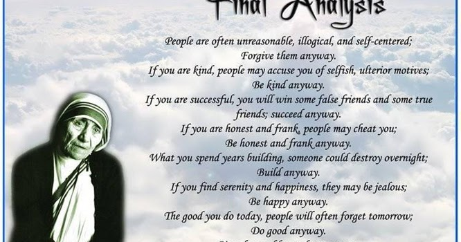 Mother Wallpaper With Quotes In English Final Analysis Poem By Mother Teresa In English Mother