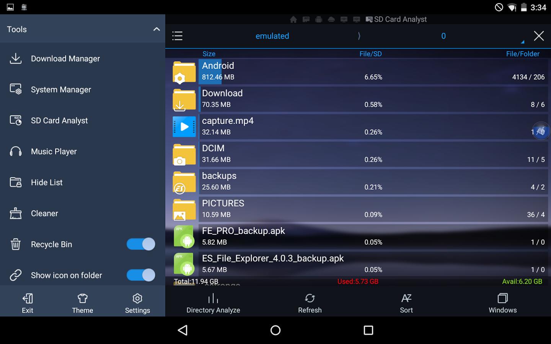 es file explorer pro 1.0.7 apk free download