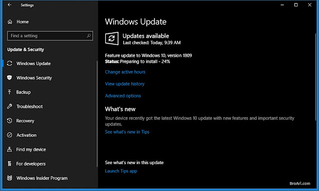 Cara Update dan Fitur Baru Windows 10 Versi 1809 Oktober 2018
