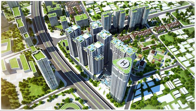 Phối cảnh dự án Vinaconex 2 Khu đô thị Kim Văn Kim Lũ