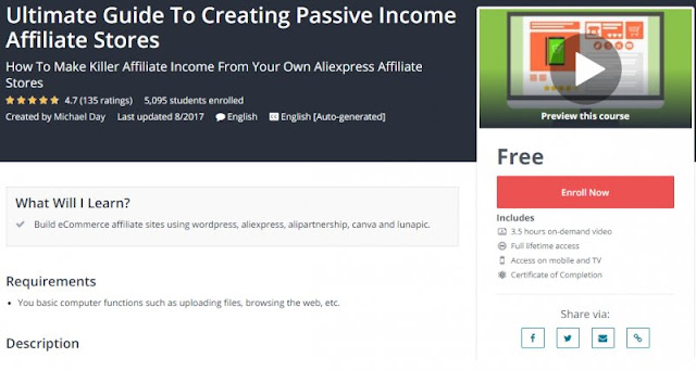 [100% Free] Ultimate Guide To Creating Passive Income Affiliate Stores