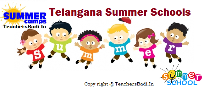 Telangana Special Summer Schools, TS Summer Camps, Warangal Summer Camps, Warangal Special Summer Schools, Primary Level Summer Camps in Summer Vacations, School Complex Level Summer Camps, Stationary Grants for Summer Camp Programs, Impart the Basic Skills, Main Objective Timings and Schedule, Warangal SSA Proceedings, TSSA Warangal,