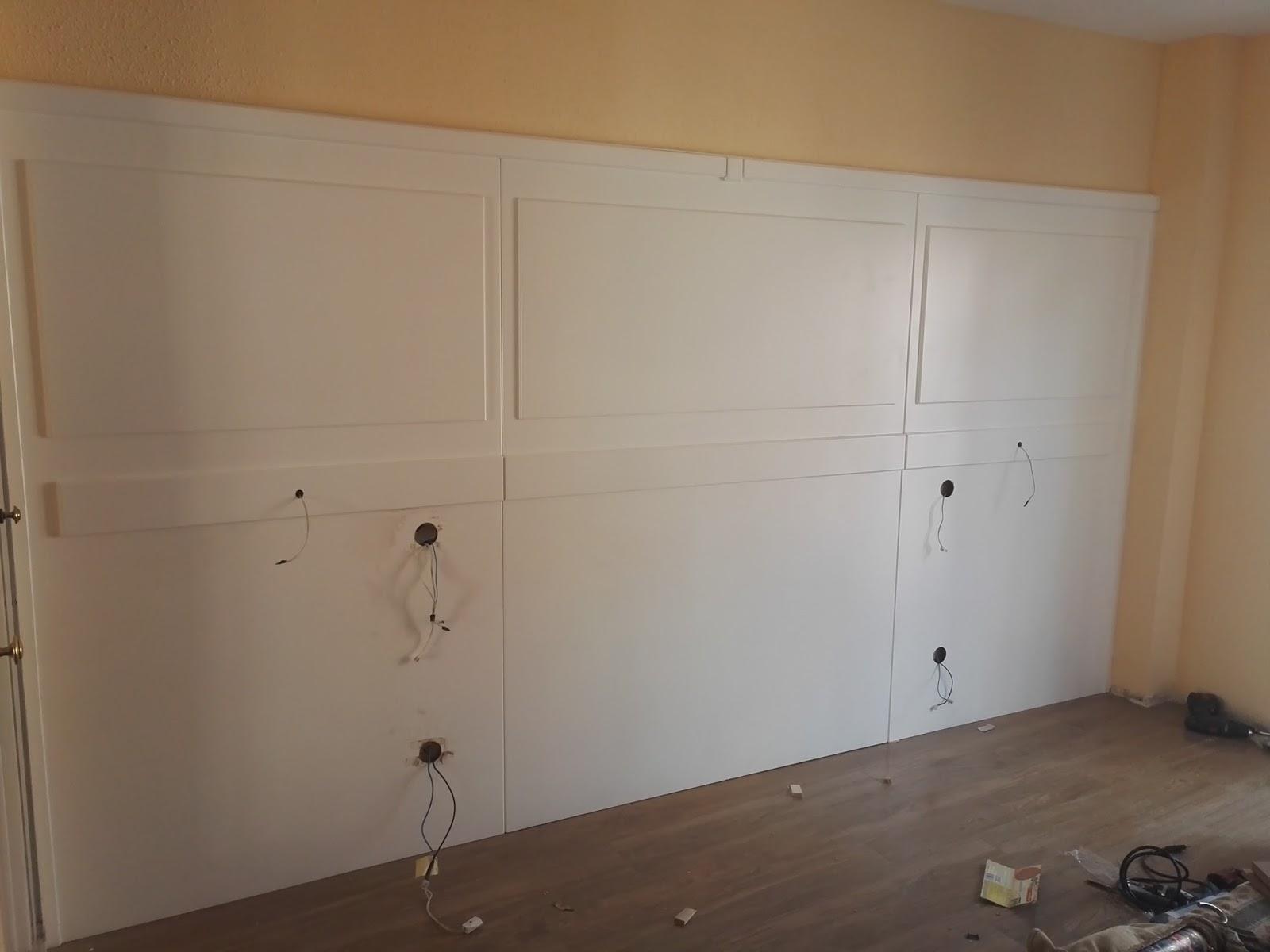 Muebles a medida panelado de pared para cabecero camas lacado en blanco - Panelado de paredes ...