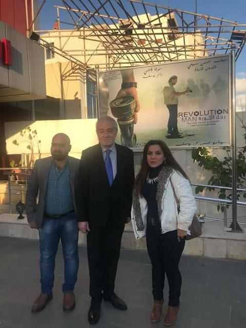 المخرج نجدة اسماعيل انزور في رجل الثورة بسينما الكندي طرطوس
