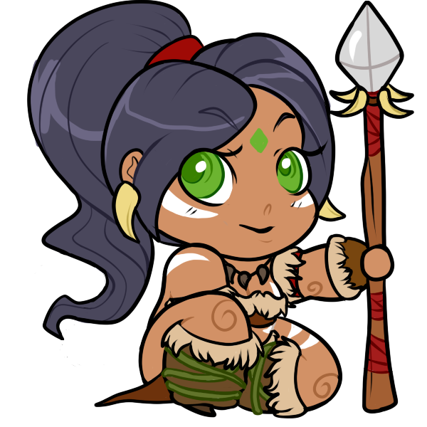 Nidalee chibi cartoon