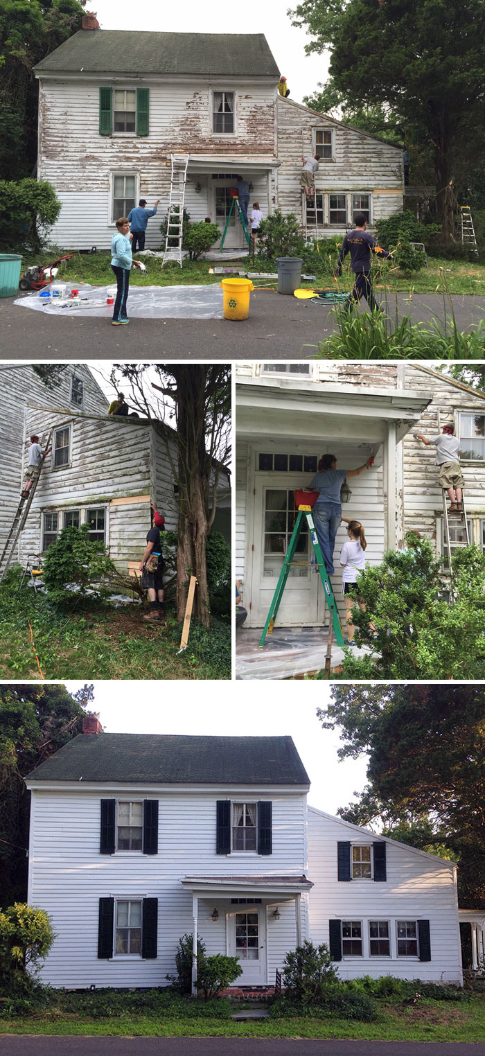 40 Times 2016 Restored Our Faith In Humanity - Neighbors Repaired The House Of A Lonely Retired Teacher For Free