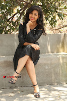 Telugu Actress Pavani Latest Pos in Black Short Dress at Smile Pictures Production No 1 Movie Opening  0050.JPG